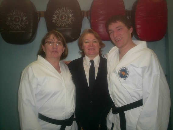 Ms Suzanne Baker, Ms BA Villeneuve - instructor Freedom TKD, Mr. David Chaffee.jpg